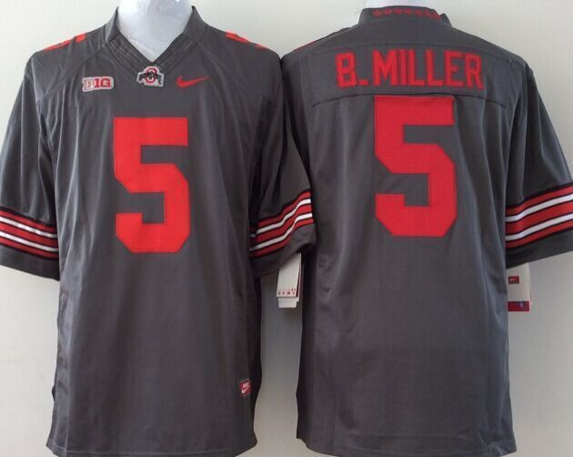 Youth NCAA Ohio State Buckeyes 5 B.Miller grey Jerseys