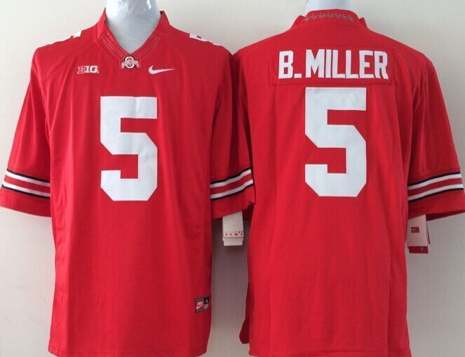 Youth NCAA Ohio State Buckeyes 5 B.Miller red Jerseys