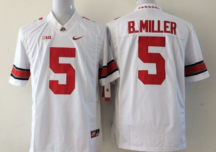 Youth NCAA Ohio State Buckeyes 5 B.Miller white Jerseys