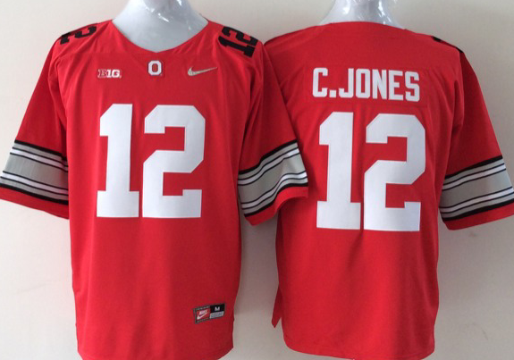 Youth NCAA Ohio State Buckeyes 12 C.JONES red Jerseys