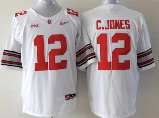 Youth NCAA Ohio State Buckeyes 12 C.jones white Jerseys
