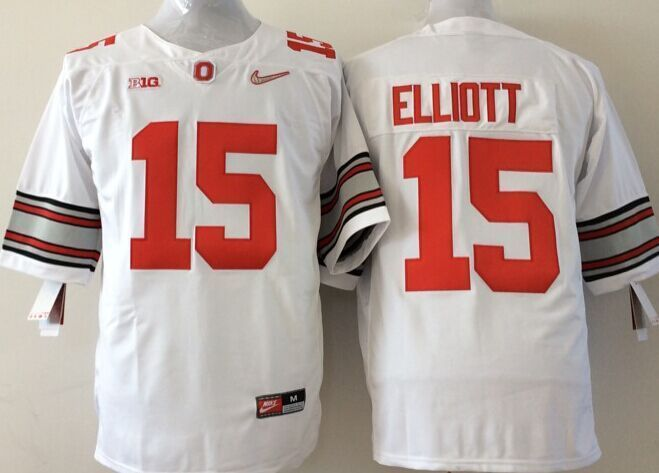 Youth NCAA Ohio State Buckeyes 15 Elliott white Jerseys
