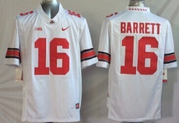 Youth NCAA Ohio State Buckeyes 16 Barrett white red Jerseys