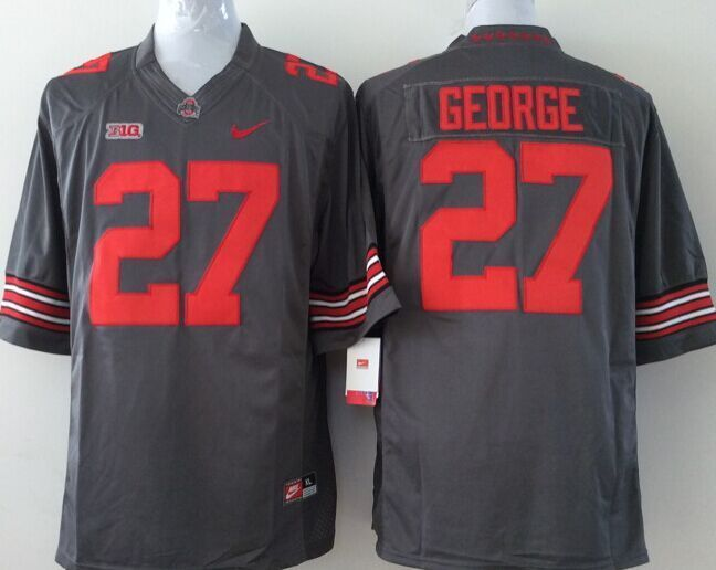 Youth NCAA Ohio State Buckeyes 27 George grey Jerseys
