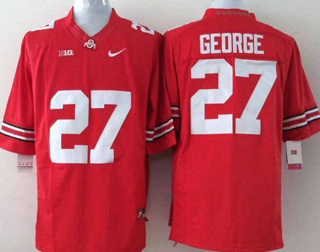 Youth NCAA Ohio State Buckeyes 27 George red Jerseys