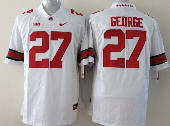 Youth NCAA Ohio State Buckeyes 27 George white Jerseys