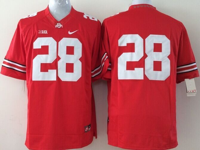 Youth NCAA Ohio State Buckeyes 28 red Jerseys