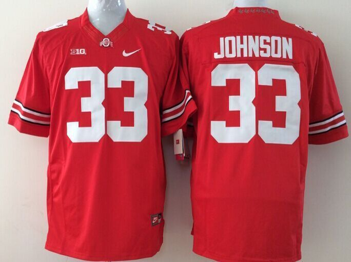 Youth NCAA Ohio State Buckeyes 33 Johnson red Jerseys