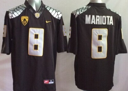 Youth NCAA Oregon Ducks 8 mariota black Jerseys