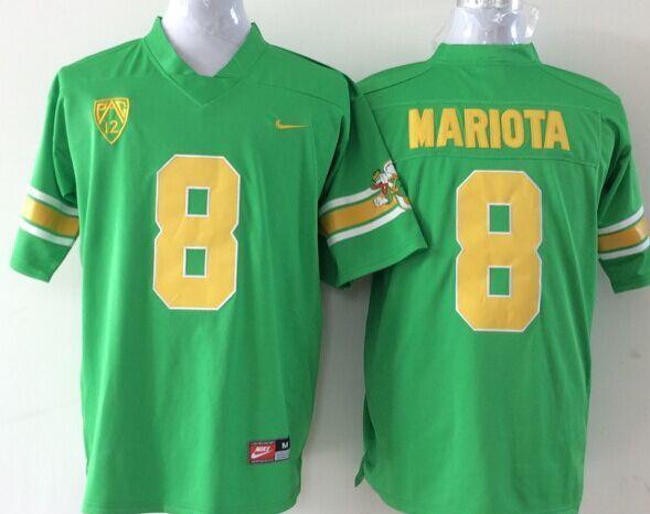 Youth NCAA Oregon Ducks 8 Mariota green Jerseys
