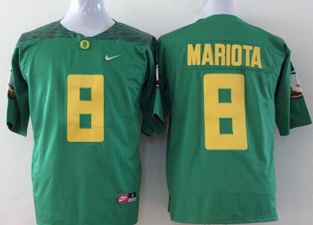 Youth NCAA Oregon Ducks 8 Mariota green Yellow Jerseys