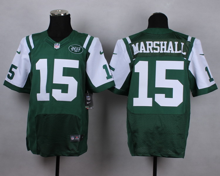 New York Jets 15 Brandon Marshall Green Men Nike Elite Jerseys