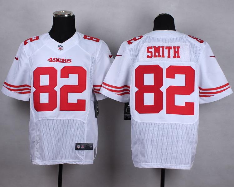 NFL Customize San Francisco 49ers 82 Torrey Smith White Men Nike Elite Jerseys