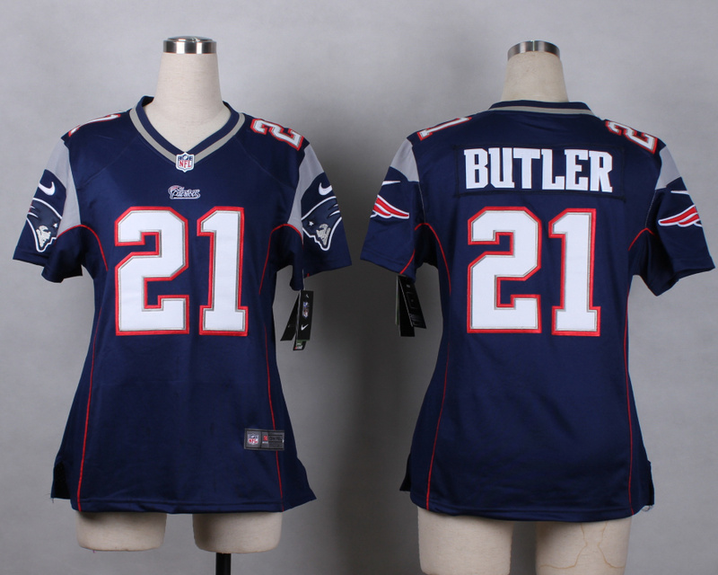 Womens New England Patriots 21 butler blue 2015 Nike Game Jerseys