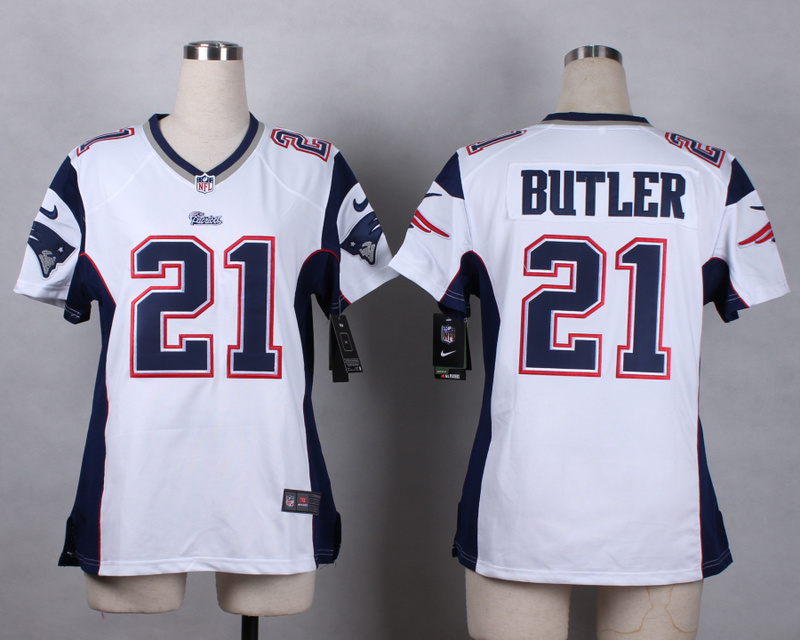 Womens New England Patriots 21 butler white 2015 Nike Game Jerseys