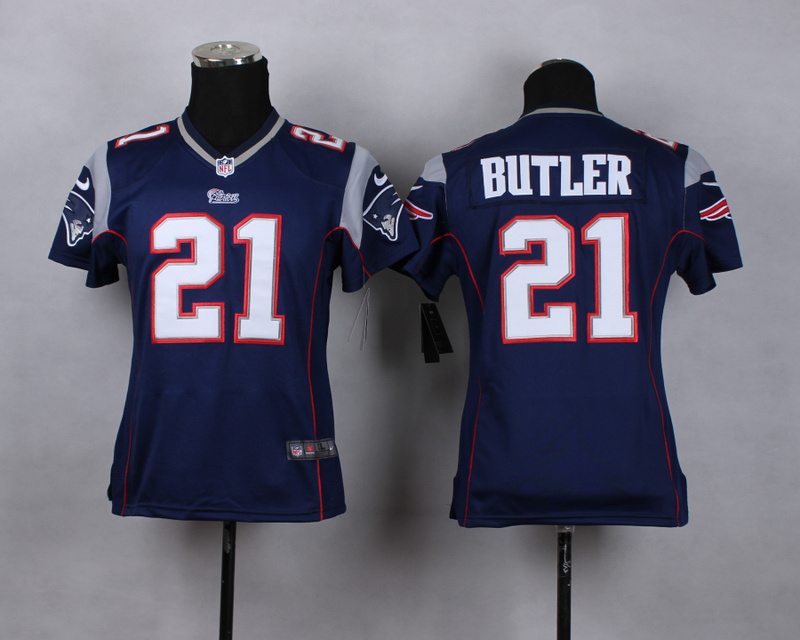 Youth New England Patriots 21 butler blue 2015 Nike Game Jerseys