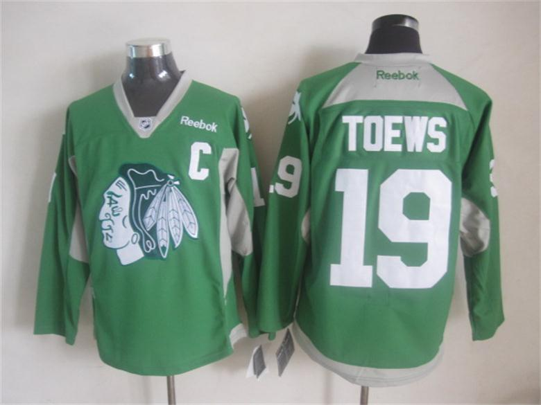 NHL Chicago Blackhawks 19 toews Green 2015 Jerseys