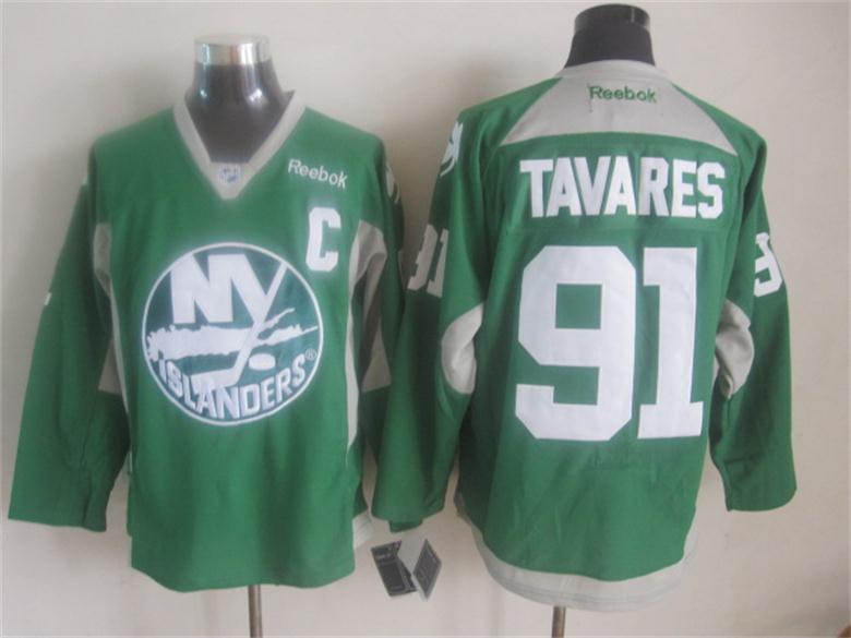 NHL New York Islanders 91 tavares Green 2015 Jerseys