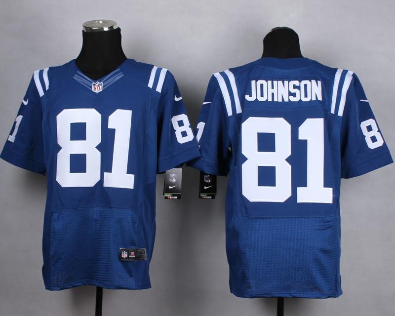 Indianapolis Colts 81 johnson blue Men Nike Elite Jerseys