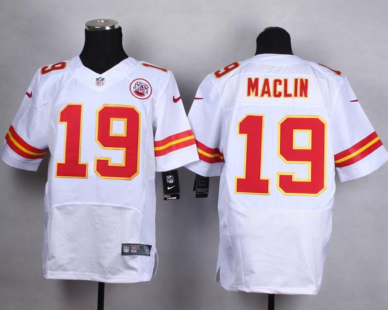 Kansas City Chiefs 19 maclin white Men Nike Elite Jerseys