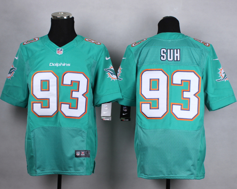 NFL Customize Miami Dolphins 93 suh green Men Nike Elite Jerseys