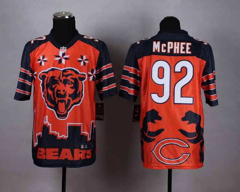 Chicago Bears 92 Mcphee Orange 2015 New Style Noble Fashion Elite Jerseys