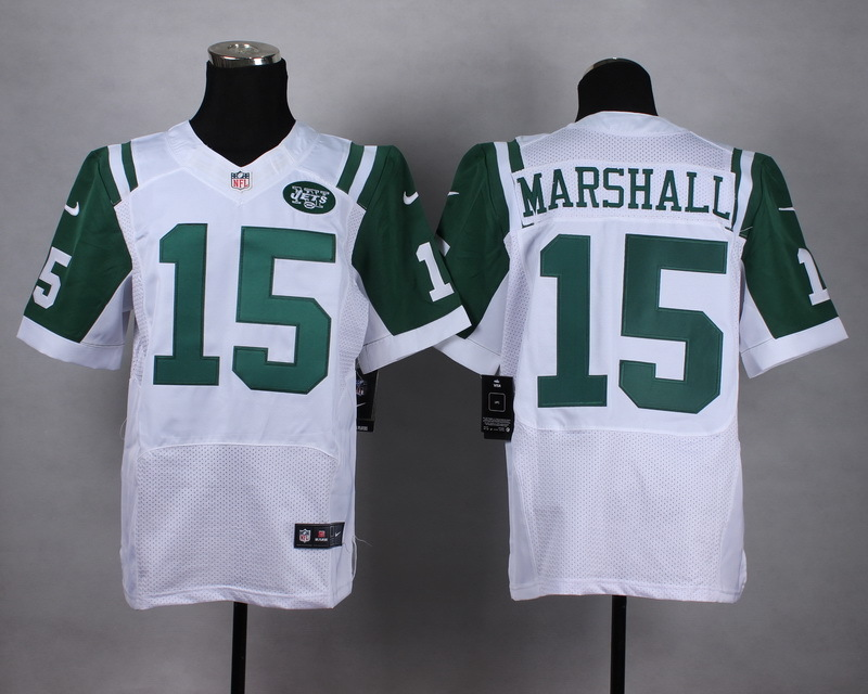 New York Jets 15 marshall White Men Nike Elite Jerseys