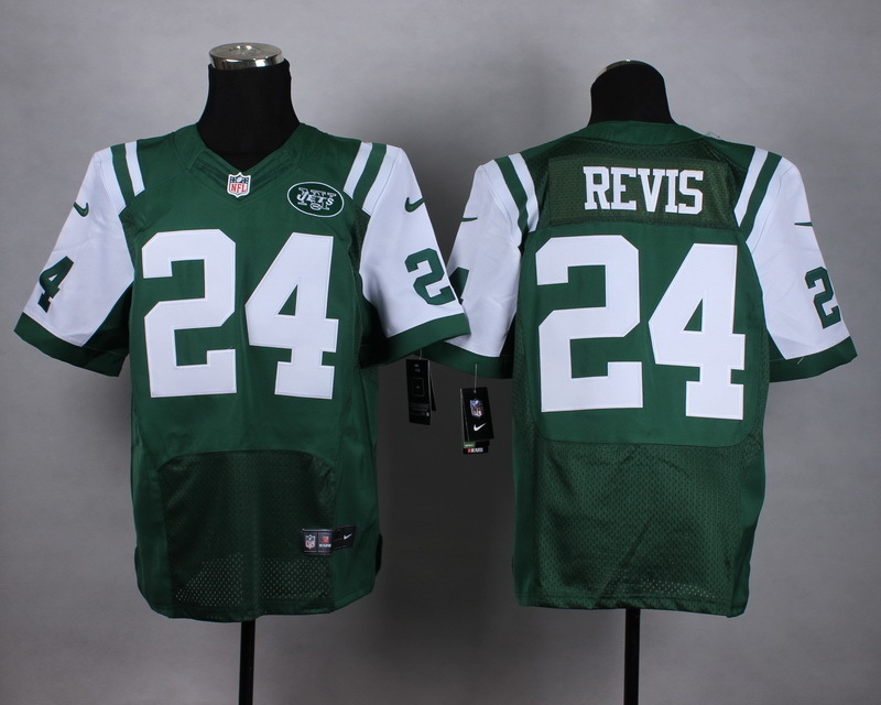 New York Jets 24 Revis Green Men Nike Elite Jerseys