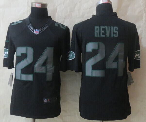New York Jets 24 Revis New Nike Impact Limited Black 2015 Jerseys