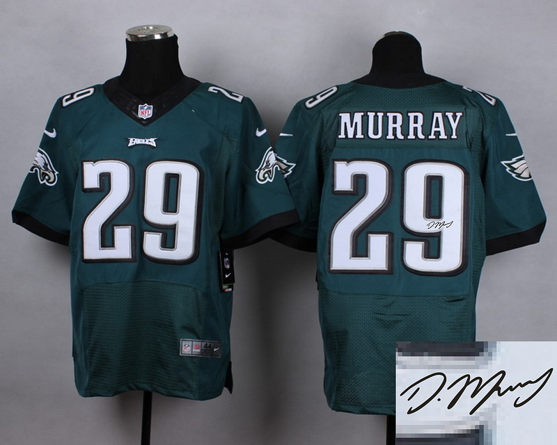 Philadelphia Eagles 29 murray green Nike Elite Autographed 2015 Jersey