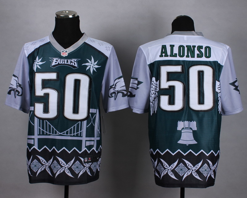 Philadelphia Eagles 50 alonso green 2015 New Style Noble Fashion Elite Jerseys
