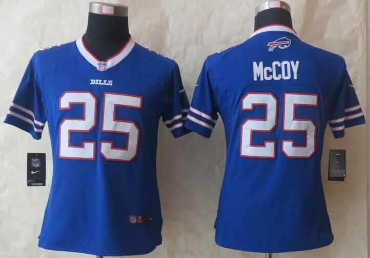 Womens Buffalo Bills 25 McCoy Blue New Nike Limited 2015 Jersey