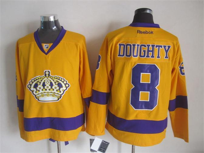 NHL Los Angeles Kings 8 doughty yellow Jerseys