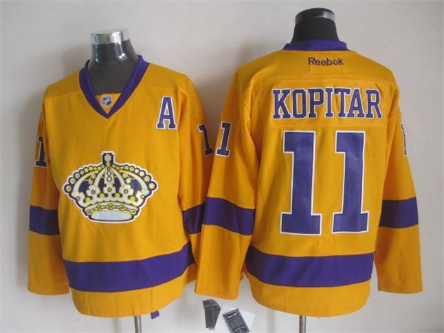 NHL Los Angeles Kings 11 kopitar yellow Jerseys