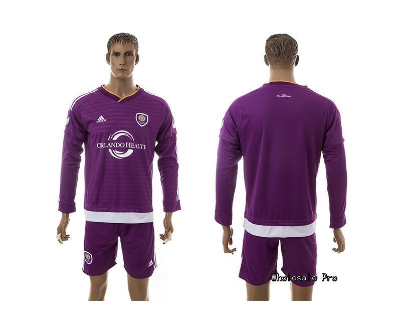 2015 Orlando City Home Purple Long Sleeve Soccer Jersey
