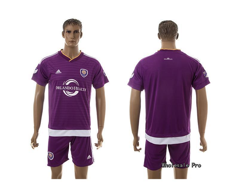 2015 Orlando City Home Purple Soccer Jersey