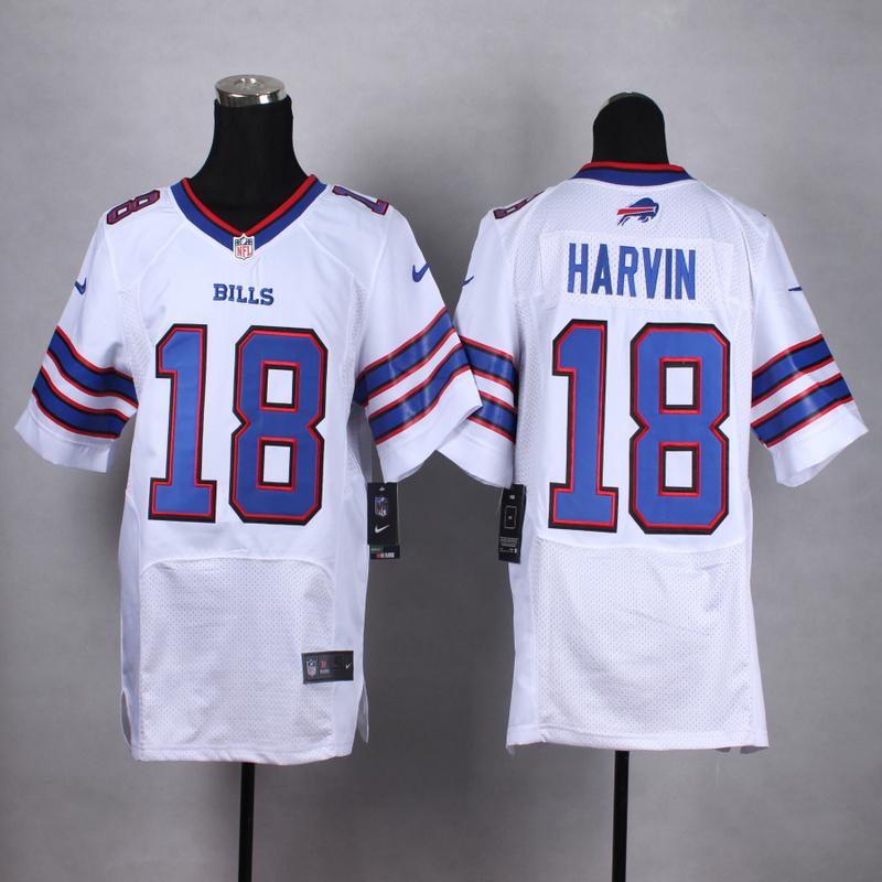 Buffalo Bills 18 Harvin White Men Nike Elite Jerseys