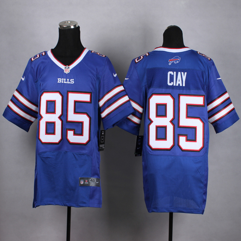 Buffalo Bills 85 Ciay Blue Men Nike Elite Jerseys
