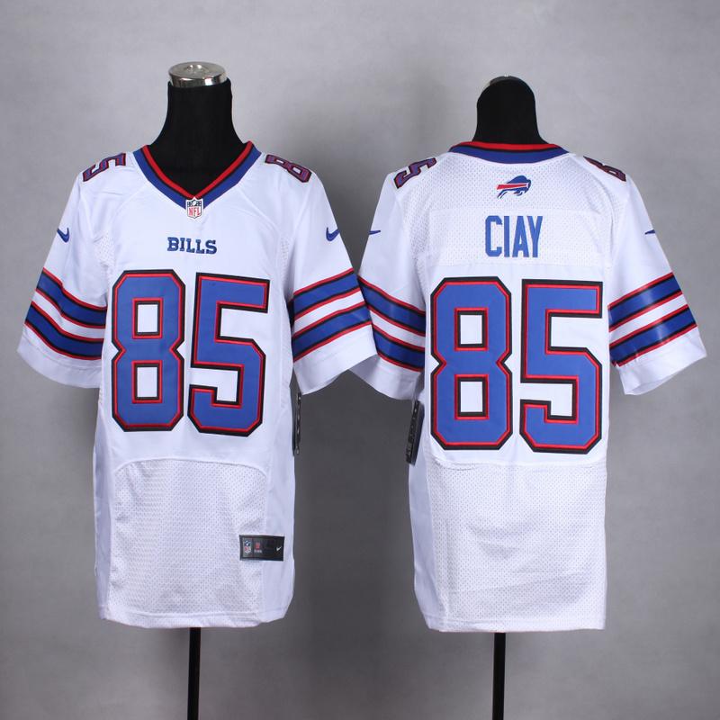 Buffalo Bills 85 Ciay White Men Nike Elite Jerseys