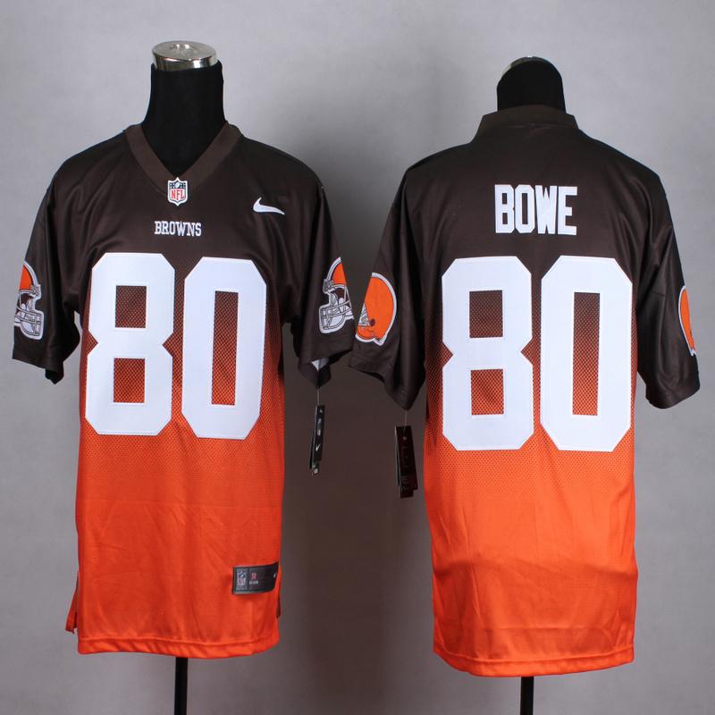 Cleveland Browns 80 Bowe Brown Orange Nike Drift Fashion II Elite 2015 Jerseys