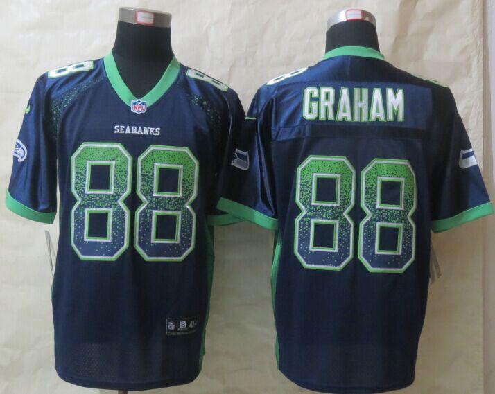 Seattle Seahawks 88 Graham Drift Fashion Blue New Nike Elite 2015 Jerseys