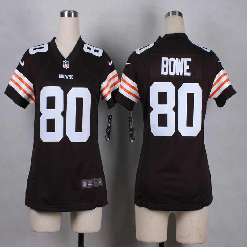 Womens Cleveland Browns 80 Bowe Brown 2015 Nike Jerseys
