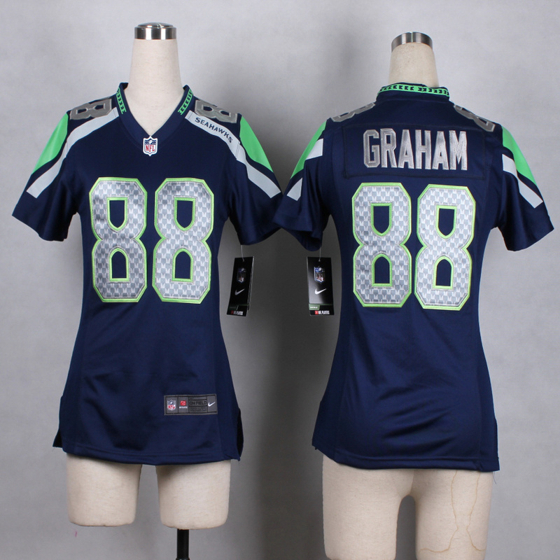 Womens Seattle Seahawks 88 Graham Blue 2015 Nike Jerseys