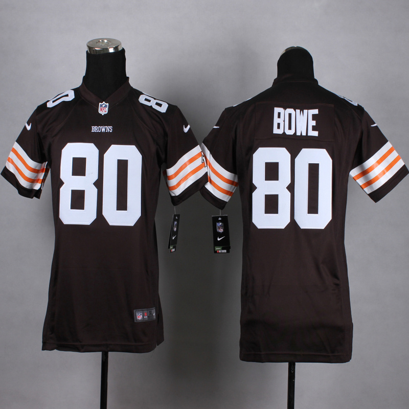 Youth Cleveland Browns 80 Bowe Brown 2015 Nike Jerseys