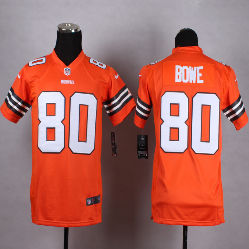 Youth Cleveland Browns 80 Bowe Orange 2015 Nike Jerseys