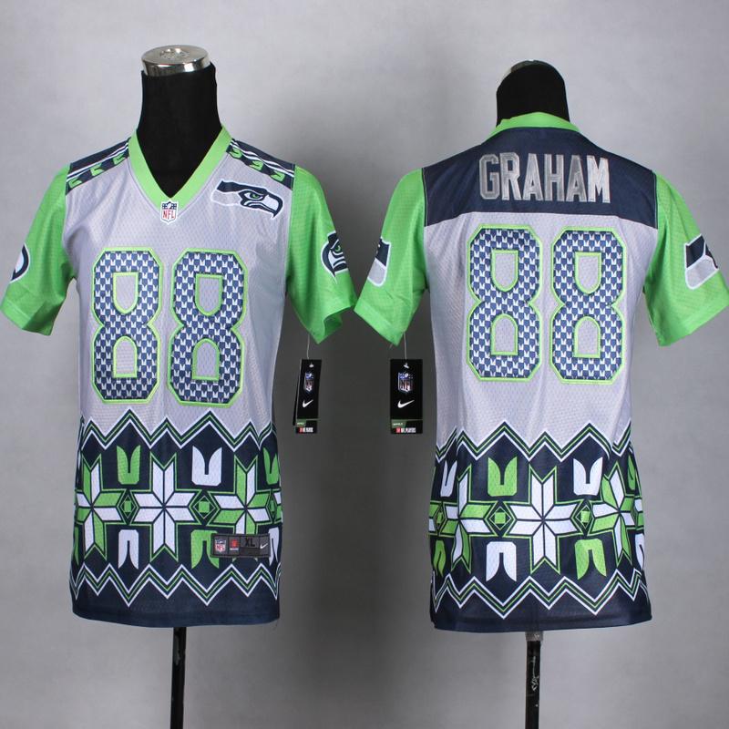 Youth Seattle Seahawks 88 graham 2015 New Style Noble Fashion Elite Jerseys