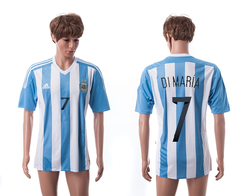 2015 AAA+ Argentina 7 DIMARIA Home Soccer Jersey