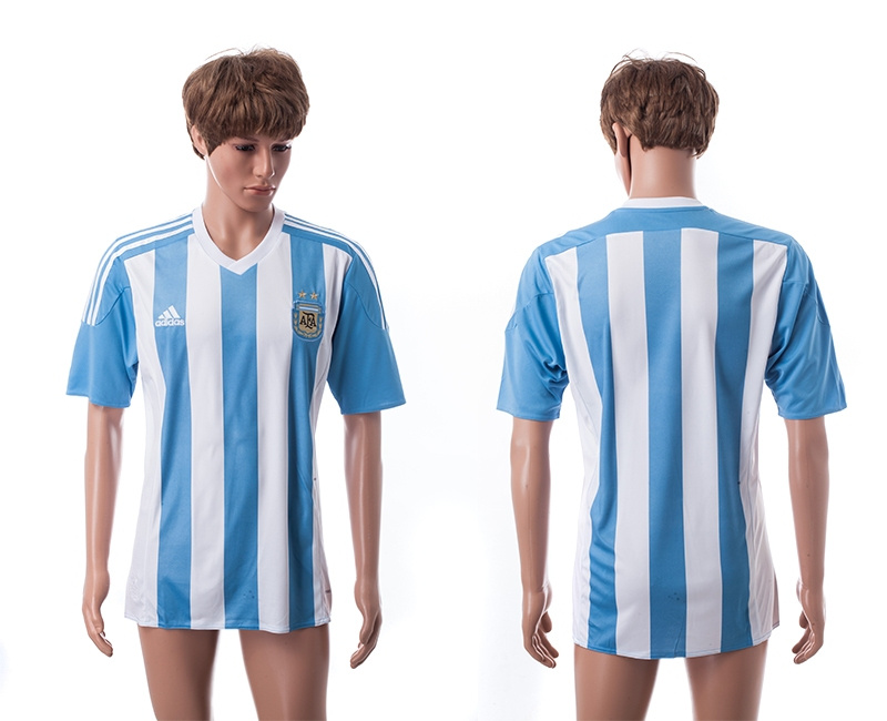 2015 AAA+ Argentina Blank Home Soccer Jersey