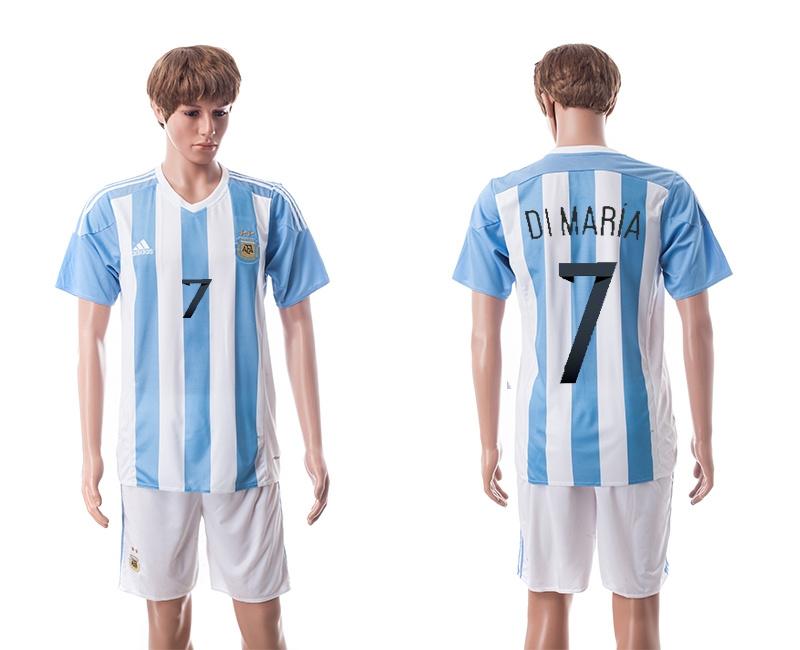 2015 Argentina 7 DI MARIA Home Soccer Jersey