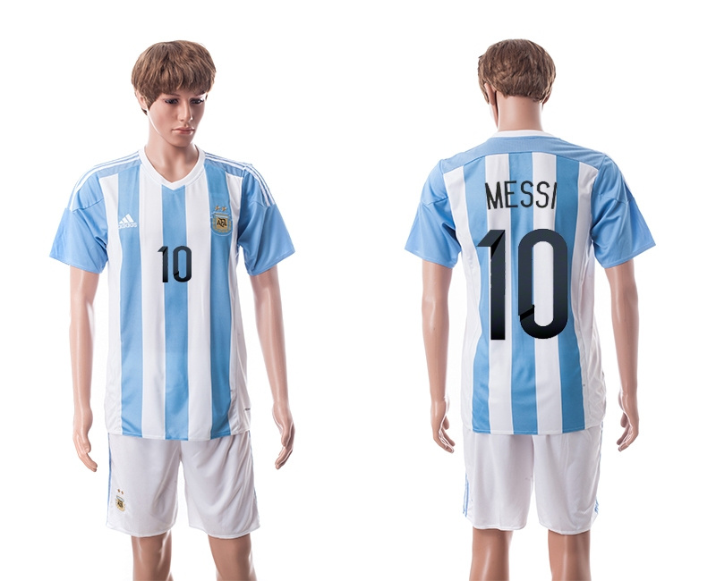 2015 Argentina 10 MESSI Home Soccer Jersey